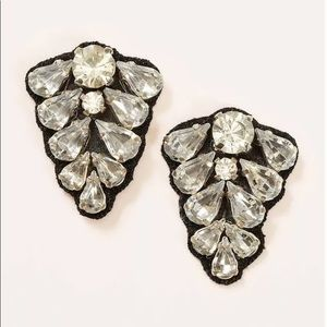 NWT  LOFT Crystal Fabric Back Earrings 359994